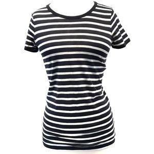 Everlane Navy Blue Striped Short Sleeve T-Shirt